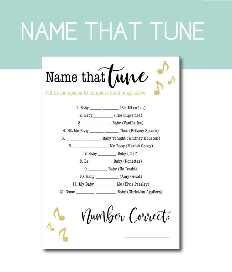Music Themed Baby Shower Game Find Baby Shower Games Your Guests