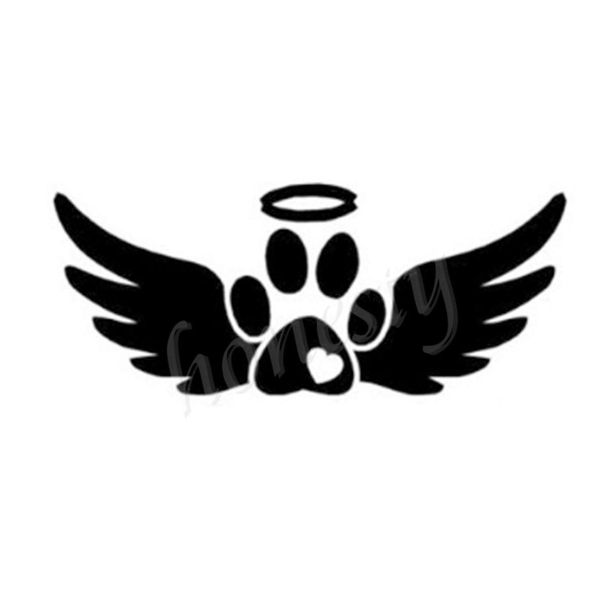 Resultado de imagen para angel wings with paw print | Alas ...