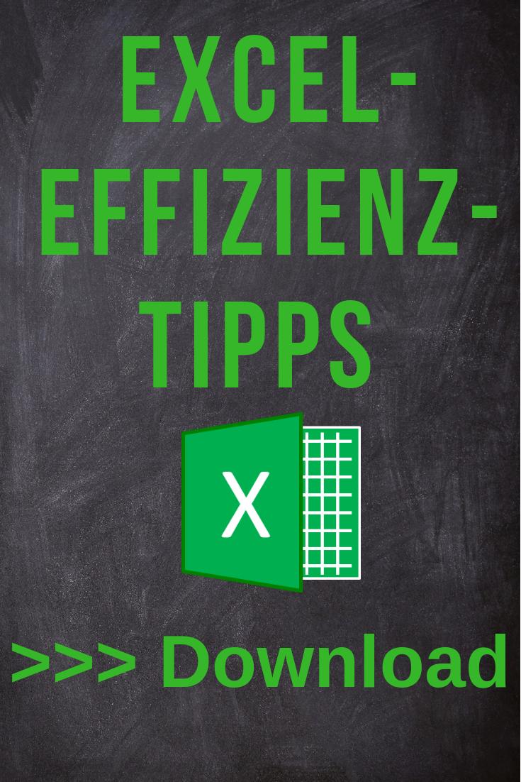 Excel Effizienz-Tipp #1 #couponing