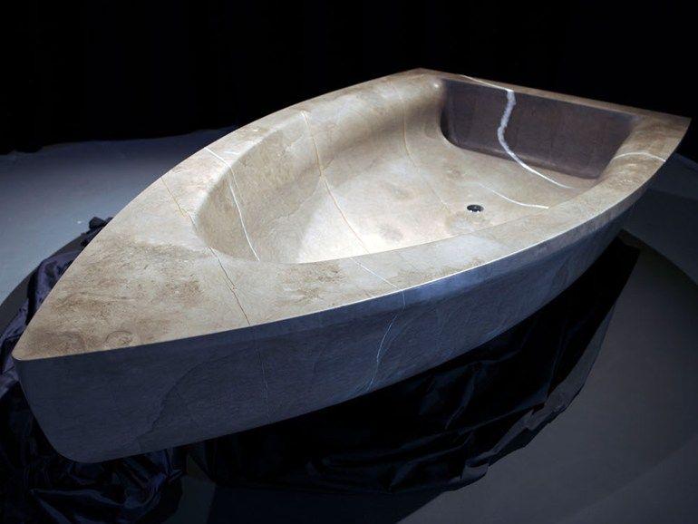Vasca da bagno centro stanza in pietra naturale VASCABARCA