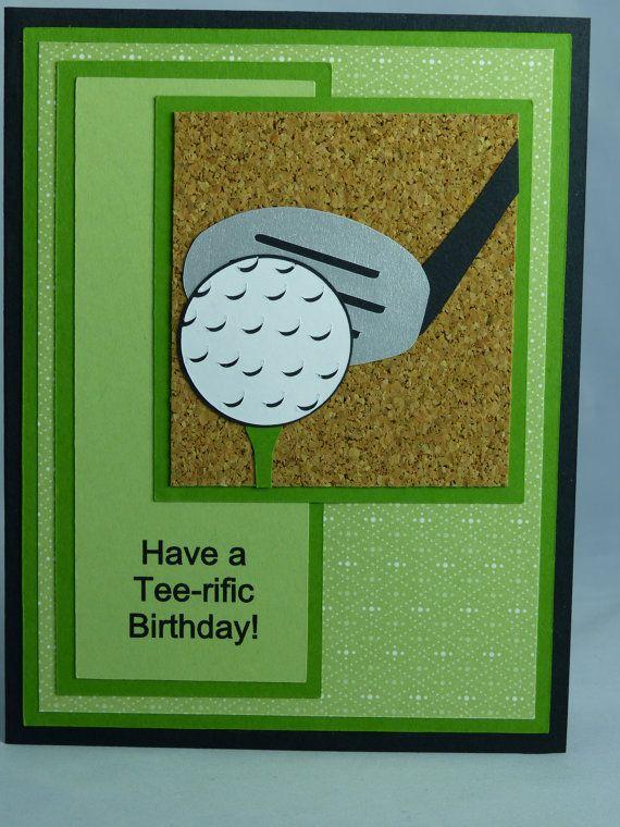 Stampin up handmade greeting card happy birthday card golf stampin up handmade greeting card happy birthday card golf golfing golfer club doctor have a tee rific birthday man mens womens bookmarktalkfo Gallery