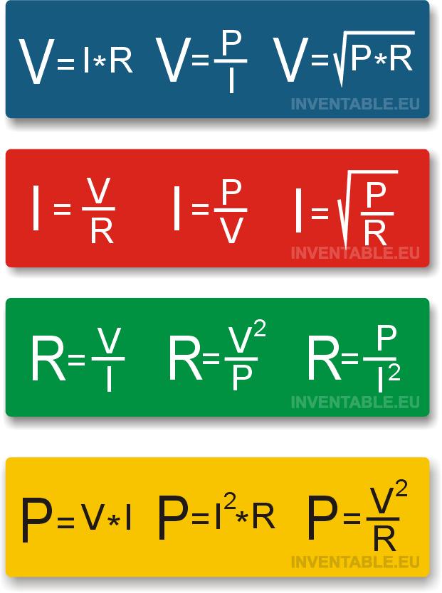 Todas las fórmulas de la Ley de Ohm | arduino | Pinterest ...