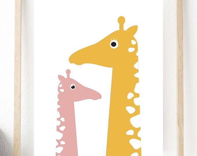 Giraffe Printable, Nursery Art Print, Nursery Prints, Animal Nursery ...