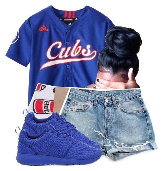 """4/9/16"" by clickk-mee ❤ liked on Polyvore featuring HUF, Levi's and NIKE"