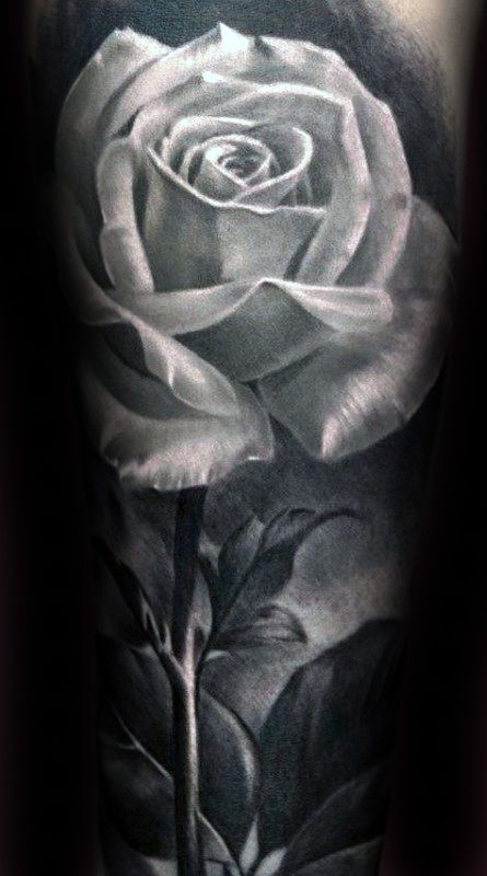 90 Realistic Rose Tattoo Designs For Men Floral Ink Ideas White Rose Tattoos Realistic Rose Tattoo Realistic Tattoo Sleeve