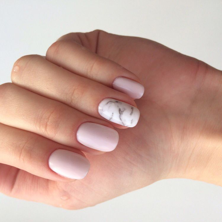 Uñas Rosa Pastel Con Mármol En 2020 Uñas De Gel Uñas