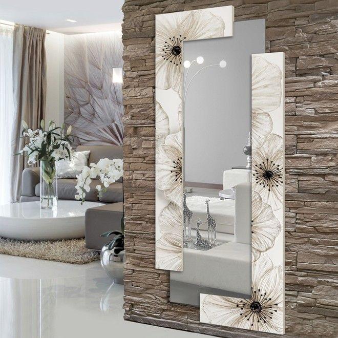 P4004 petunia scomposta 190x80 verticale specchio e - Specchio verticale ...