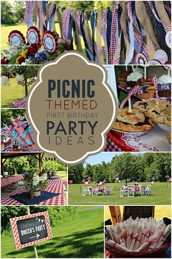 Picnic Themed Boys First Birthday Party