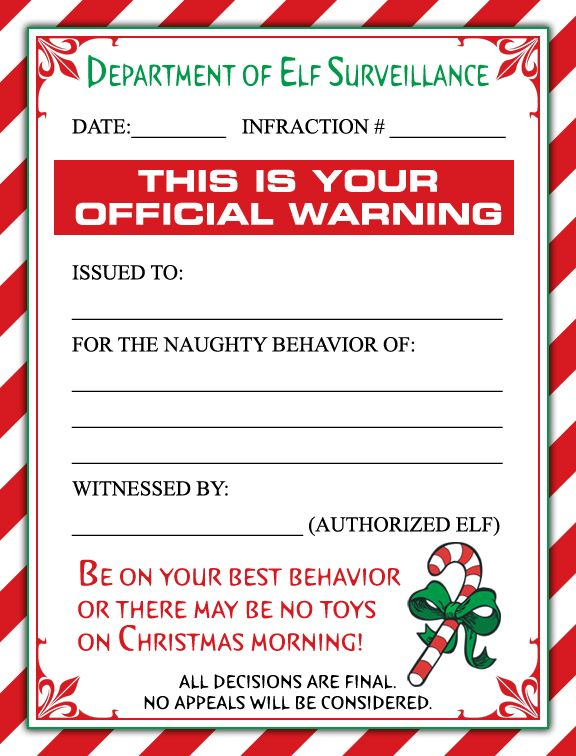 A cute christmas elf warning letter andor a personalized letter a cute christmas elf warning letter andor a personalized letter from santa for the little ones in your life spiritdancerdesigns Image collections