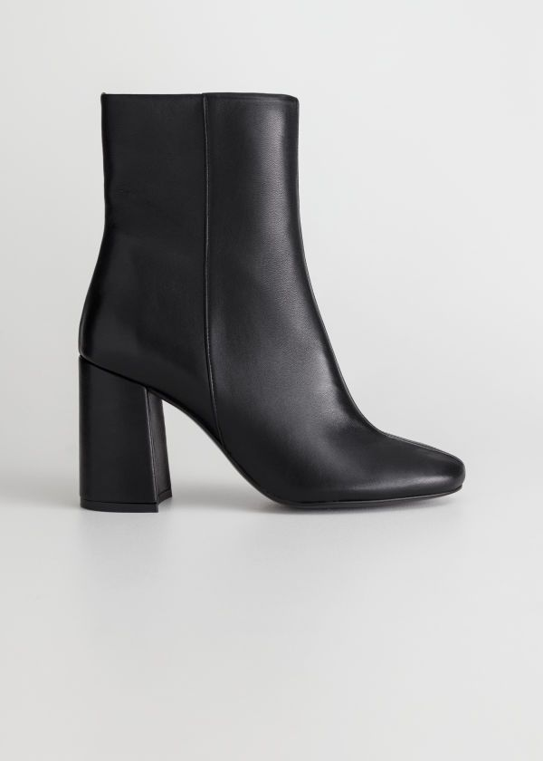 6a54280a0347 High Leather Ankle Boots