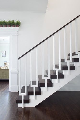 Love This Contemporary Vibe I Ve Never Seen A Staircase Spindle Like This One Http Www Houzz Com Pho Modern Stair Railing Modern Stairs Modern Staircase