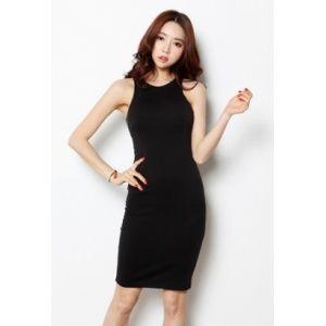 Korea Star Fashion 44-55사이즈 심플 절개 원피스 절개선을 가미하여 슬림한 라인을 만들어 주고 슬리브리스 디자인으로 섹시한 느낌까지 겸비하였답니다 - 23,200원 by 해피BOX