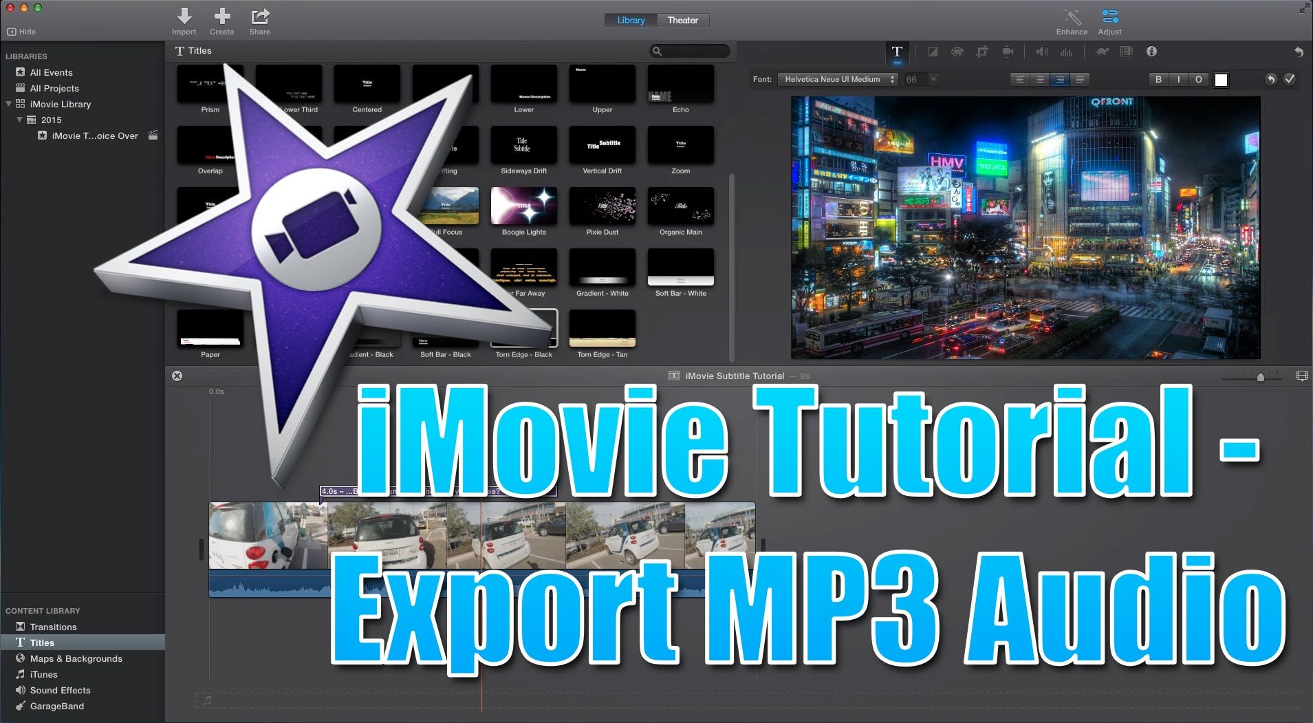 Imovie Tutorial How To Export Imovie Video To Audio Mp3 Mp3 Video Converter Video
