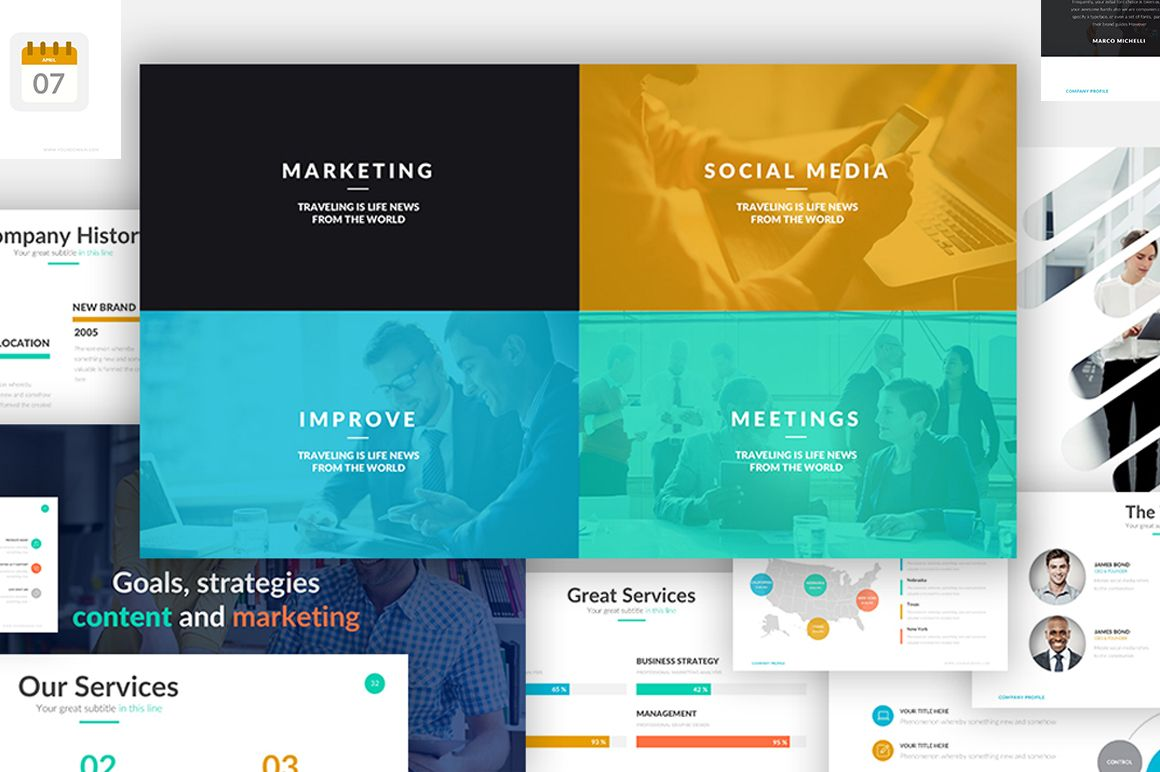 17 professional powerpoint templates to create amazing pitch decks, Modern powerpoint