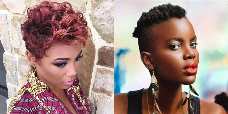 Pixie Haircuts For Black Women In 2020 2021 Pixie Haircut Short Pixie Haircuts Short Hair Images