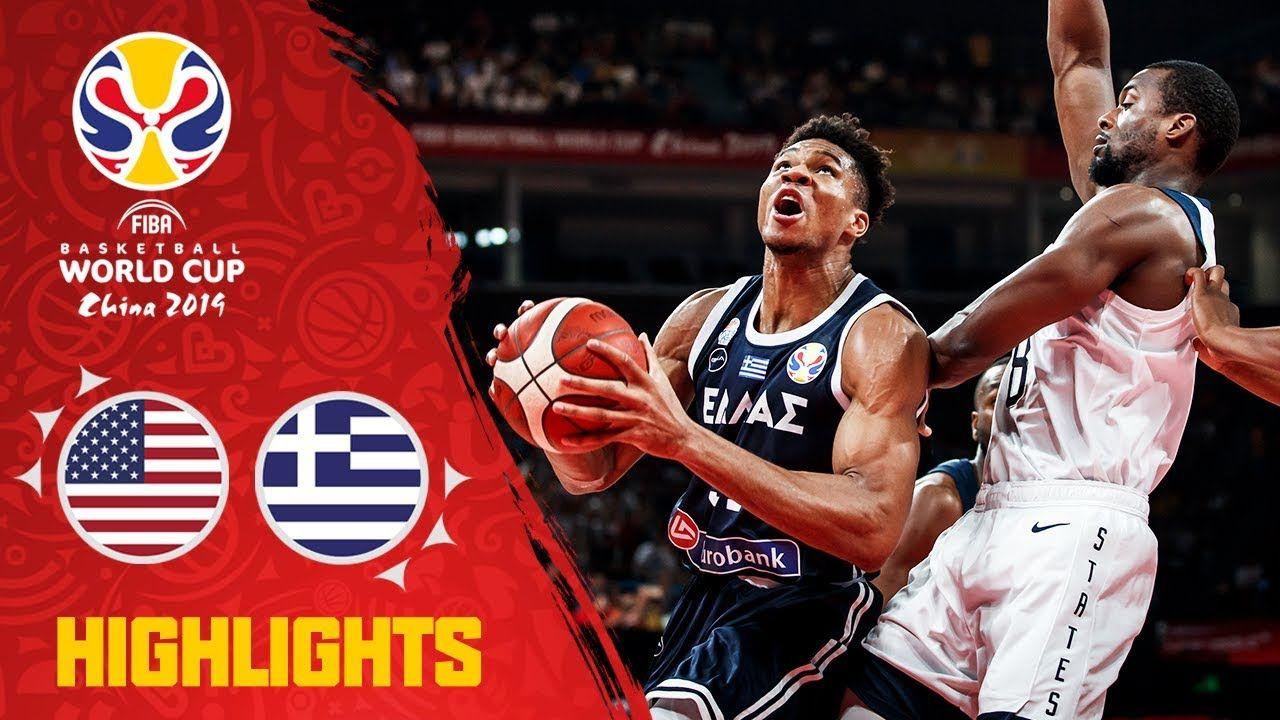Usa V Greece Highlights Fiba Basketball World Cup 2019 Fiba Basketball World Cup Basketball