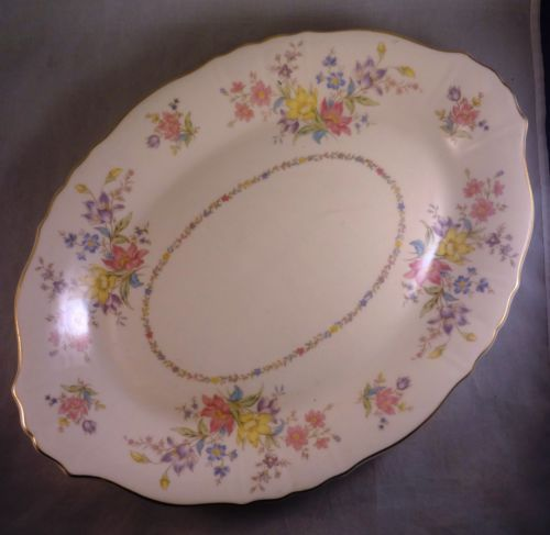 "Syracuse Briarcliff, Federal Shape Oval Serving Platter, 14"". $15.99 at raisakylie on ebay, 7/17/16"