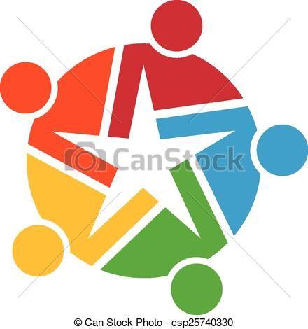 vector teamwork of stars logo stock illustration royalty free rh pinterest com