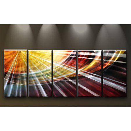 Metal Wall Art Abstract Modern Contemporary Sculpture Home Decor Large Sun Rays Contemporarydecor Abstract Metal