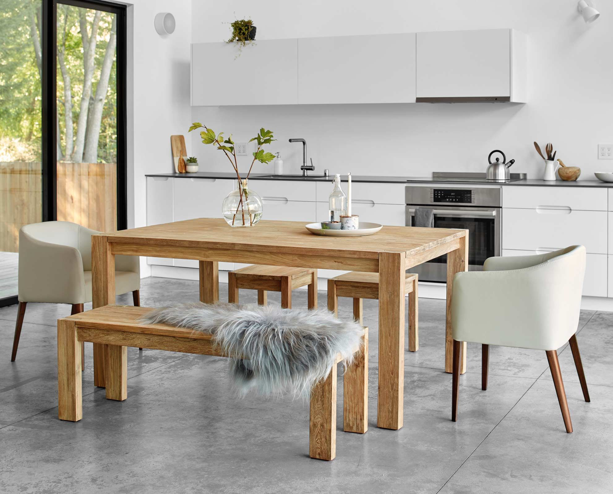 The Sammer 65 Dining Table From Scandinavian Designs Simple In Design And Crafted From Solid Re Contemporary Home Decor Contemporary House Dining Room Design