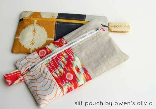 Olivia's Split Zippered Pouch - Free Sewing Tutorial