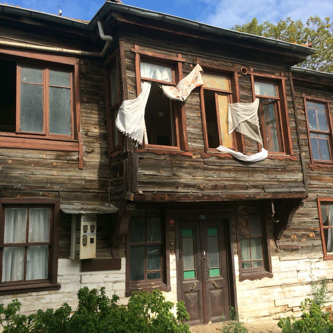 Burgazada, Turkey Terkedilmiş, Eski evler, Evler