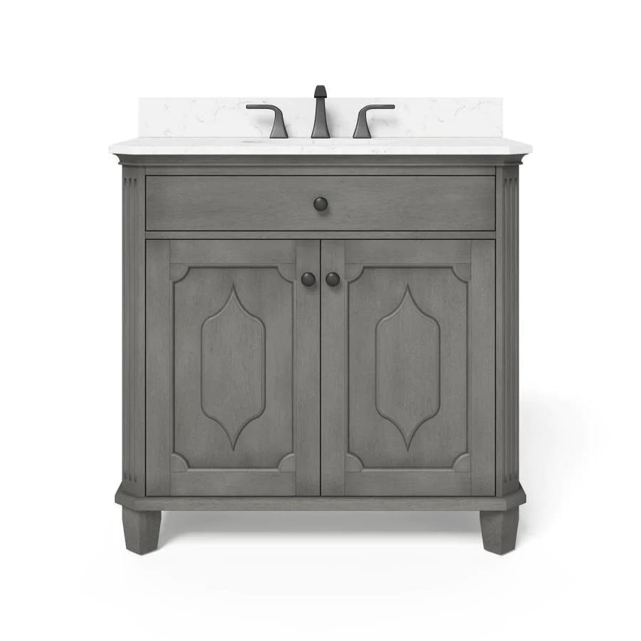 Nxwu Ntjuowrbm 36 inch gray bathroom vanity