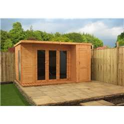 ShedsWarehouse.com | OXFORD | 12ft x 8ft Contempory Gardenroom Large Combi (12mm T&G Floor & Roof)