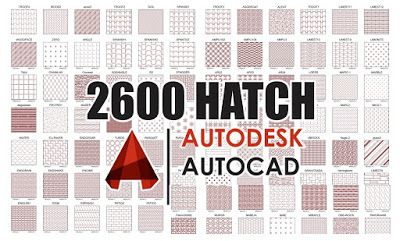 2600 AutoCAD Hatch Patterns Free Download! + How To Add