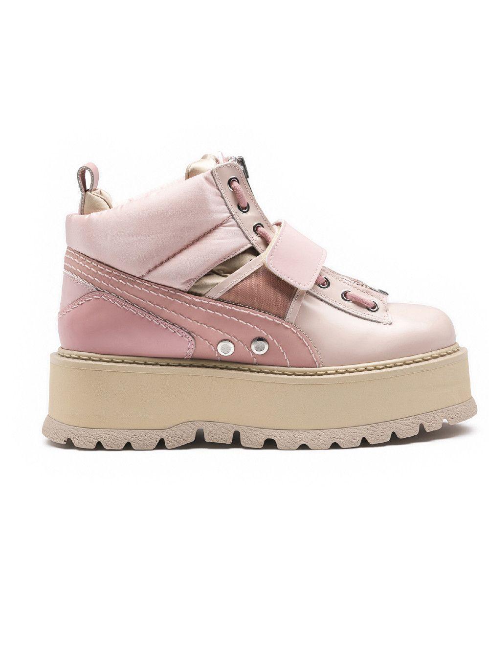 ae0ec9be28e2 Pink  Fenty X Puma By Rihanna  Sneaker Boots