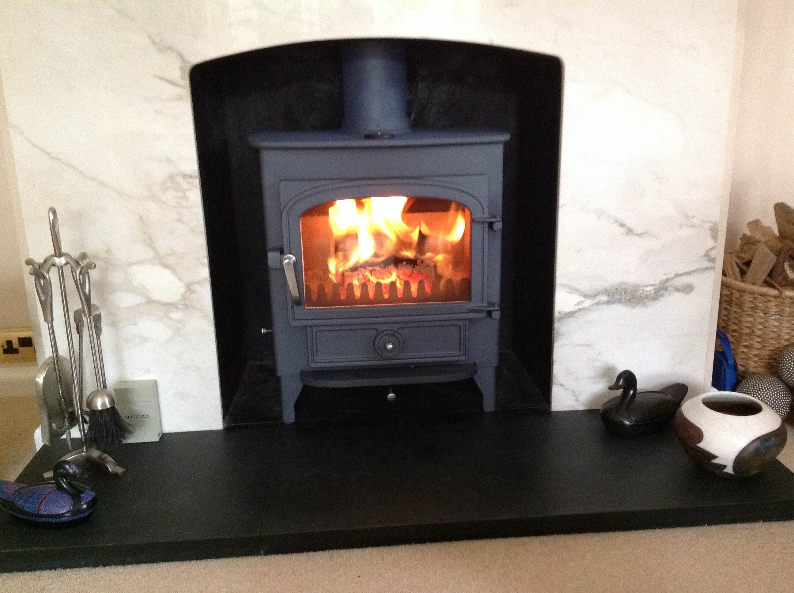 clearview vision 500 in welsh slate blue set in a marble