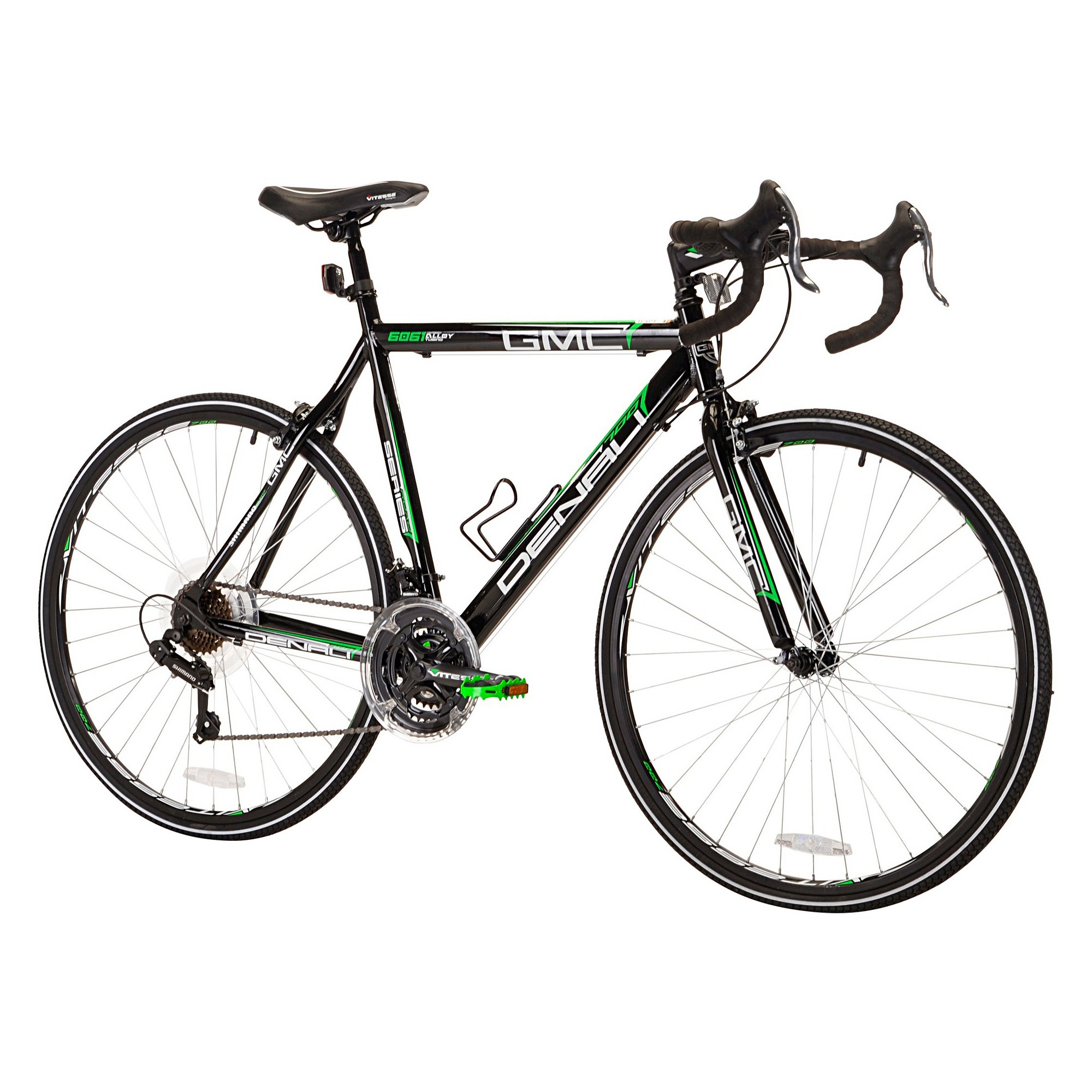 Gmc Men S Denali 700c Road Bike 22 Black Green Adult Unisex Green Black Road Bike Gmc Denali Bike Reviews