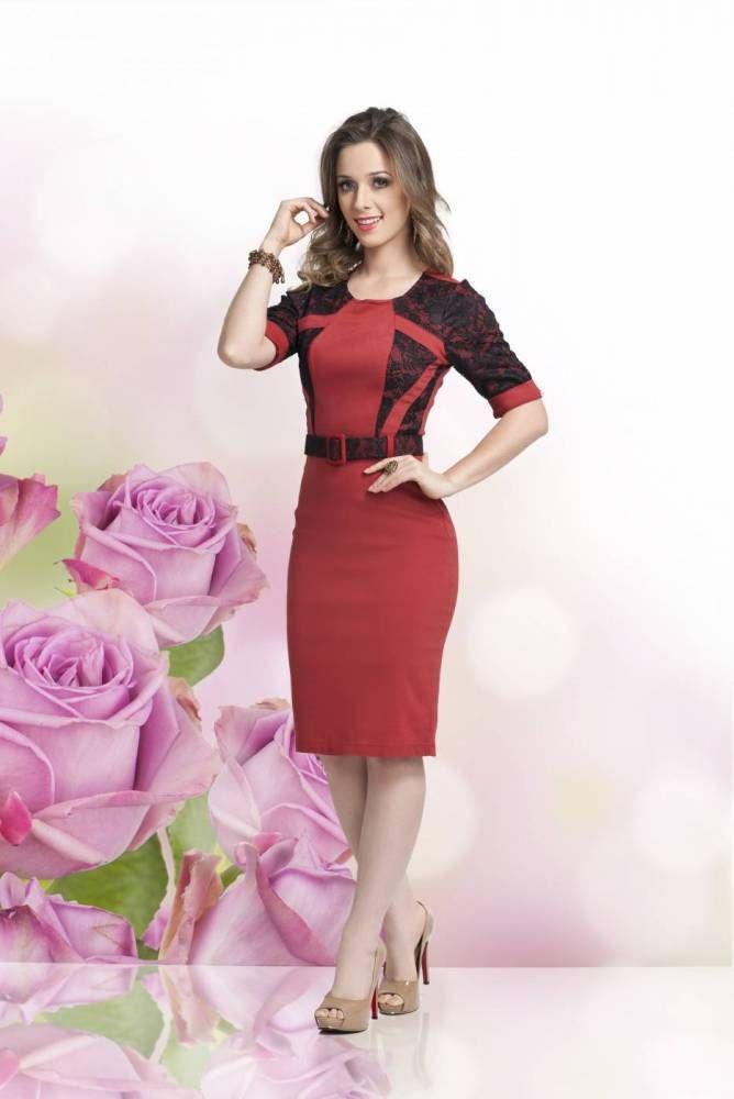 Vestido Vermelho, Sapato Vermelho, Vermelho Babados