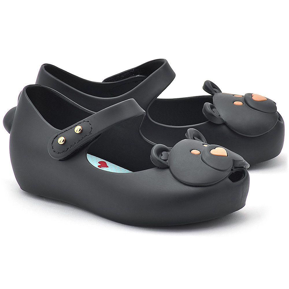 Melissa Bear Czarne Gumowe Baleriny Dzieciece Baleriny Buty Dzieci Mivo Shoes Fashion Flats