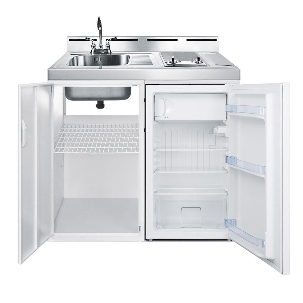 Summit Appliance 39 in. Compact Kitchen in White   Retro ...