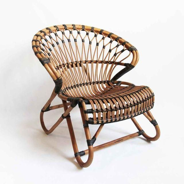 Image of Bamboo & Rattan Side Chair
