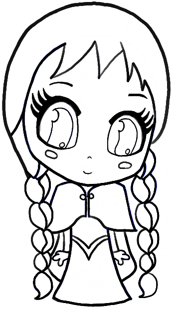 How To Draw Chibi Anna From Frozen With Easy Step By Step Tutorial How To Draw Step By Step Drawing Tutorials Drawings Chibi Drawings Cute Cartoon Drawings