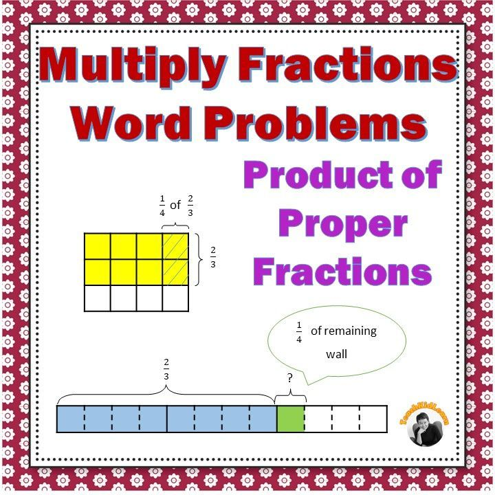 Fractions Worksheets 5th Grade Multiplying Proper Fractions Word ...