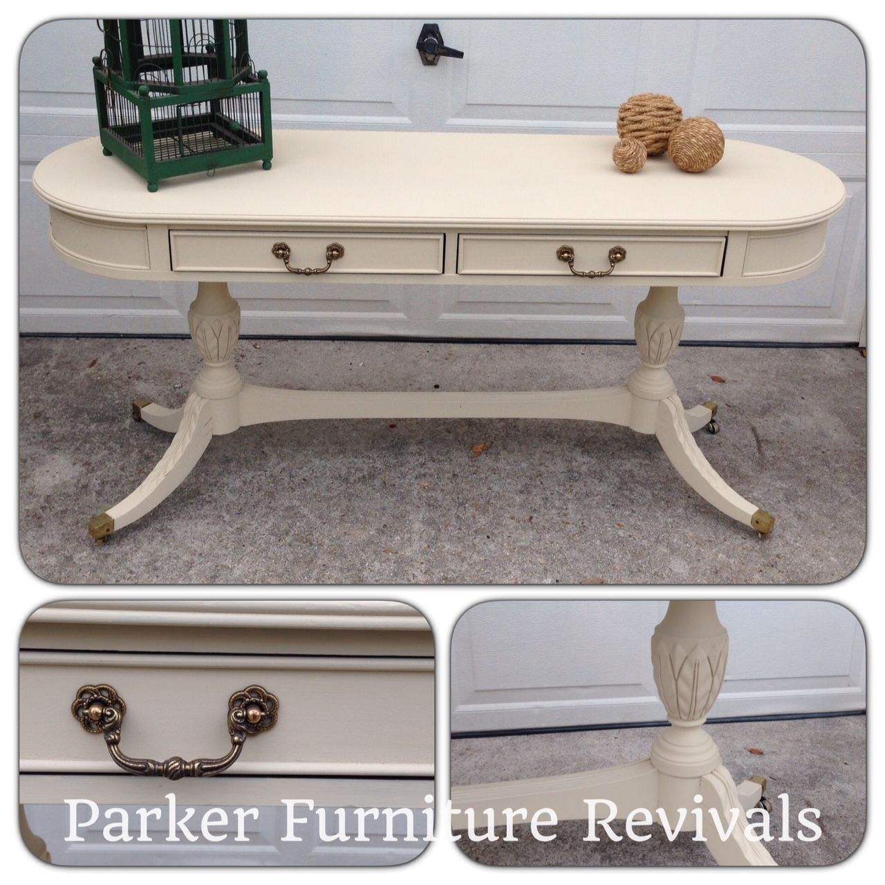 Classic century furniture console table painted with americana classic century furniture console table painted with americana decor chalky finish in timeless features geotapseo Choice Image