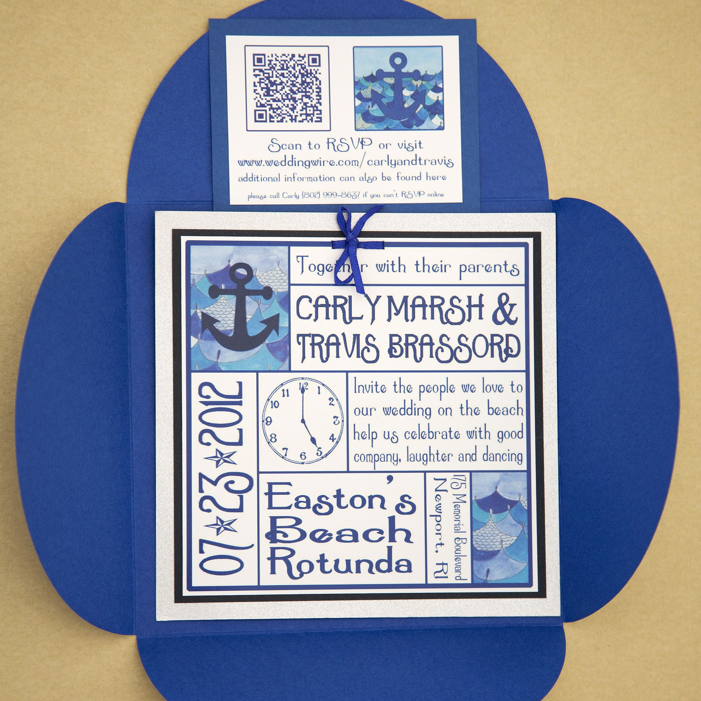 B Wedding Invitations Coupons: Wedding Invitations With A QR Code For RSVP! Your Guests
