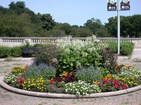Dusable museum flower gardens in washington park two for Circular flower garden designs