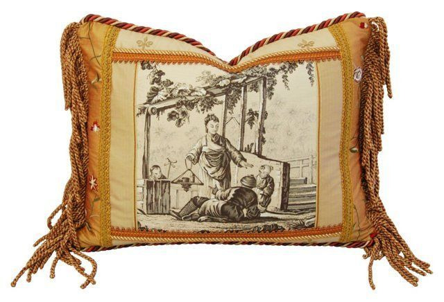 Vintage Brunschwig & Fils Toile Accent Pillow by Mike Seratt of The Prized Pig $419 (orig. $599)