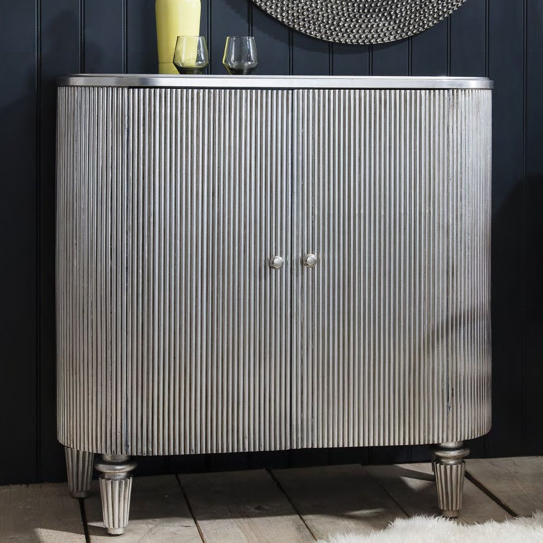 The Chicago Silver Leaf Drinks Cabinet | Drinks cabinet, Leaves ...