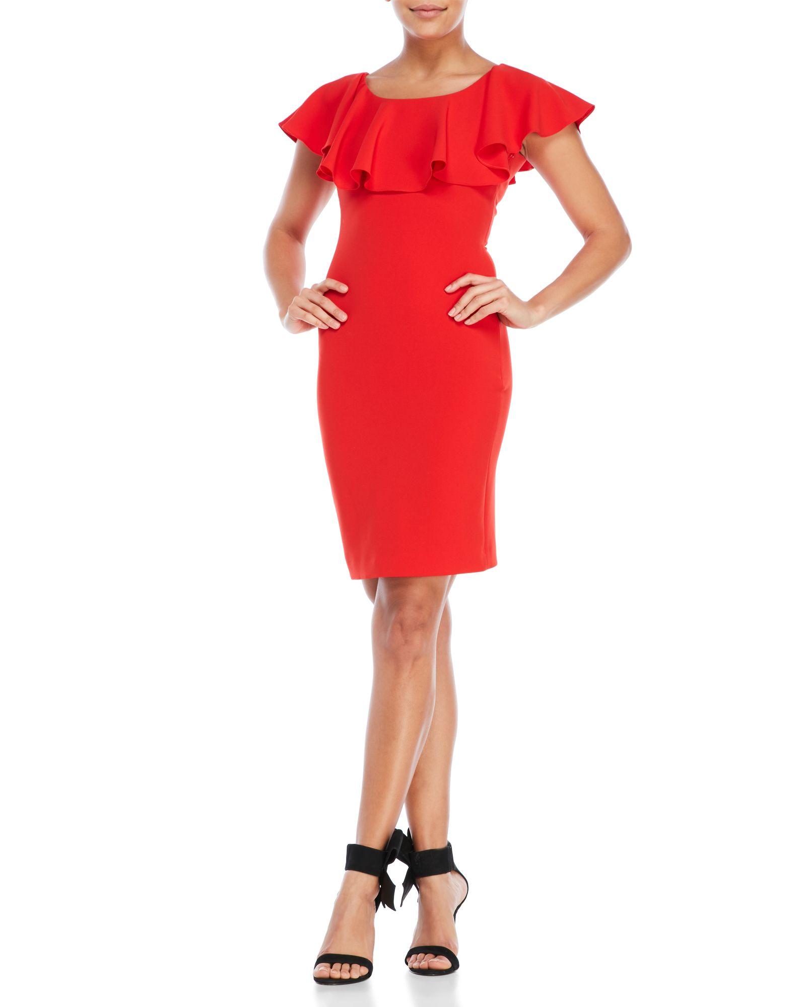 Boutique Moschino Ruffle Sheath Dress