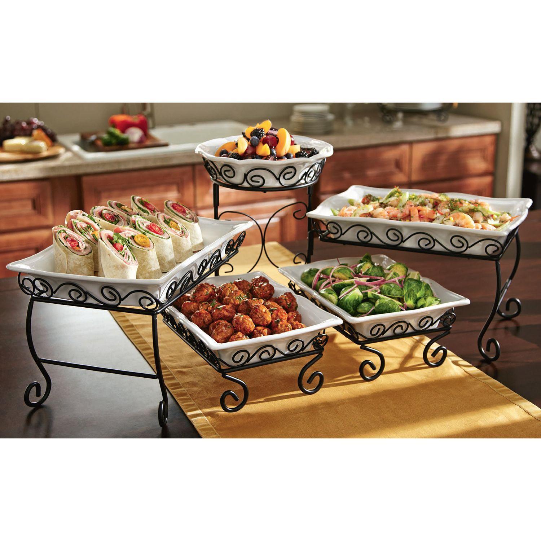 Tiered Buffet Server Sam S Club Buffet Server Serving Dishes Buffet