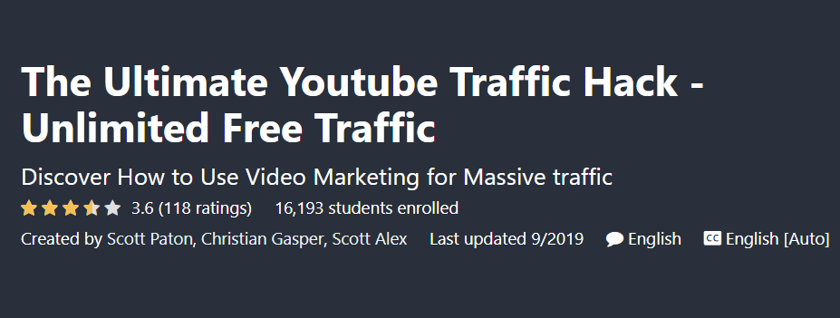 The Ultimate Youtube Traffic Hack In 2020 Youtube Traffic Traffic Free Courses