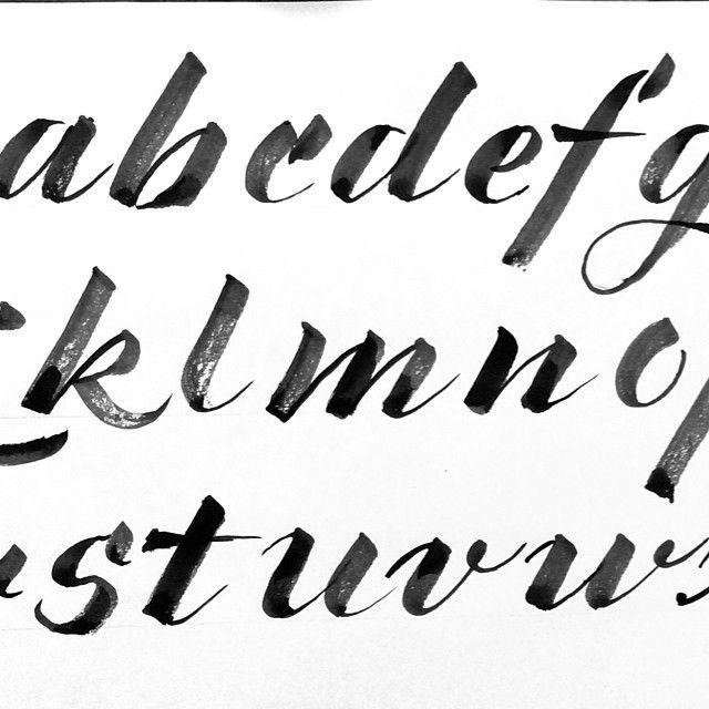 Brush Lettering Alphabet