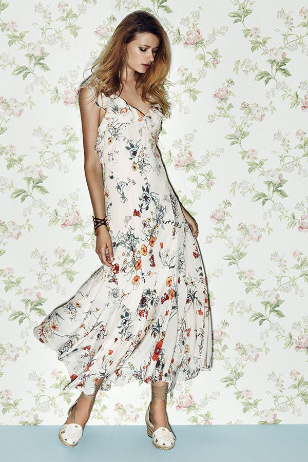 9fb58b5f97f Bring out your inner bohemian with the floral prints and subtle ruffles  from  RebeccaTaylor.  SaksStyle
