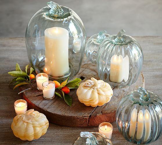 Recycled Glass Pumpkin Cloche Glass Pumpkins Pumpkin