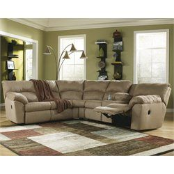Ashley Furniture Amazon 2 Piece Fabric Reclining Sectional In